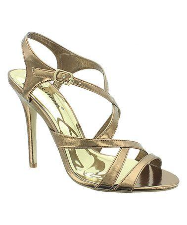 cacf398903de Look what I found on  zulily! Bronze Myrna Sandal  zulilyfinds ...