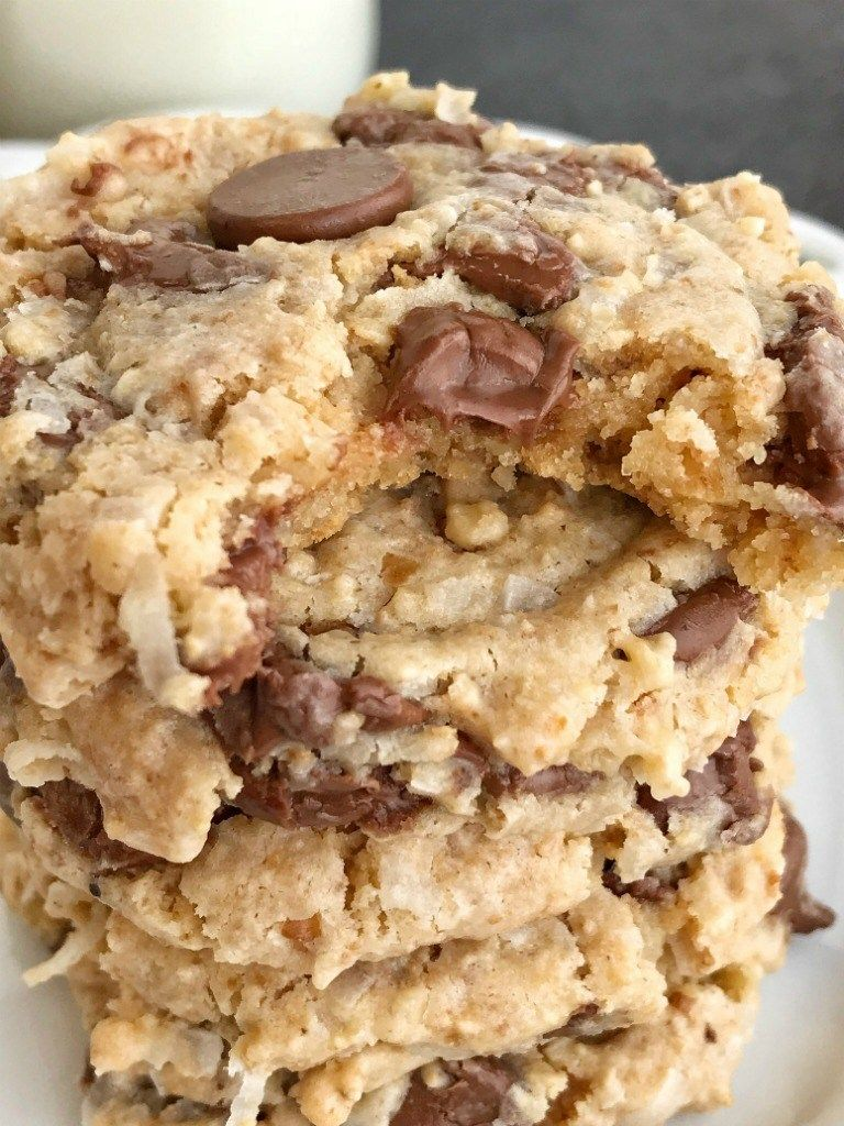 Chocolate Chip Treasure Cookies Chocolate Chip Treasure Cookies Are Loaded With Texture Chocolate Chip Walnut Cookies Egg Free Cookies Oatmeal Cookie Recipes