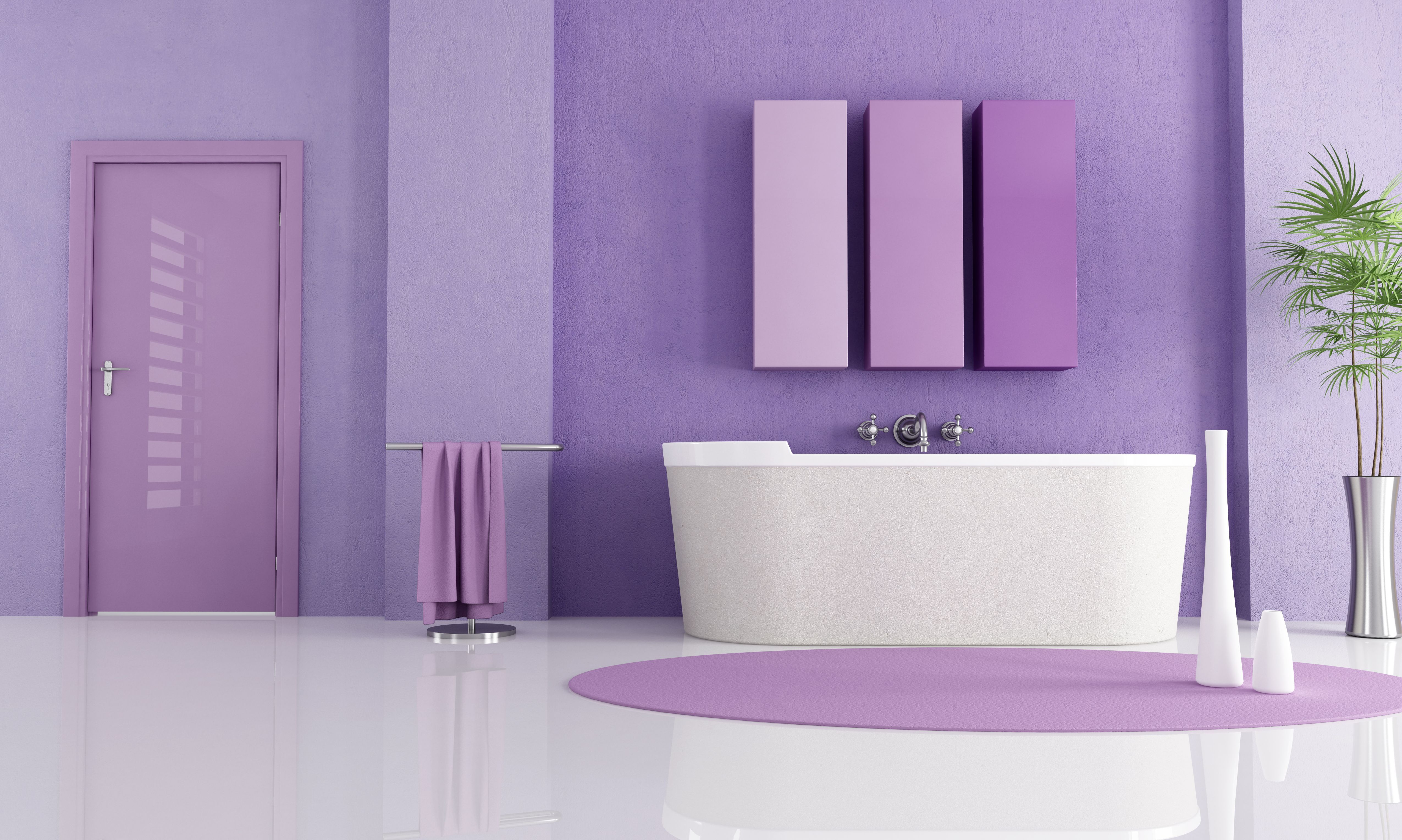 Good bathroom inspiration paint colors purple color for Bathroom paint colors