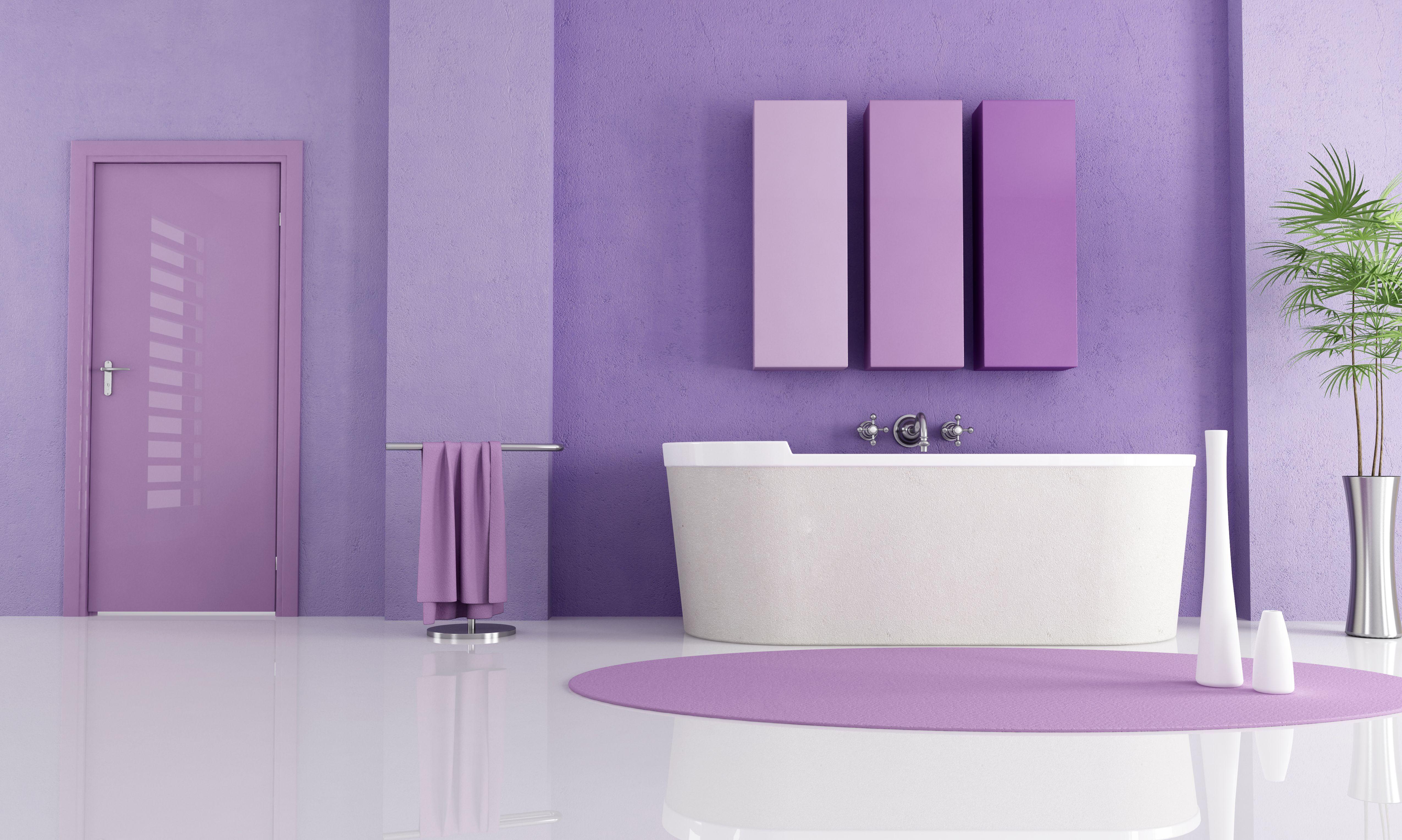 Beste Farbe Für Das Schlafzimmer Lila Wand Farbe ...