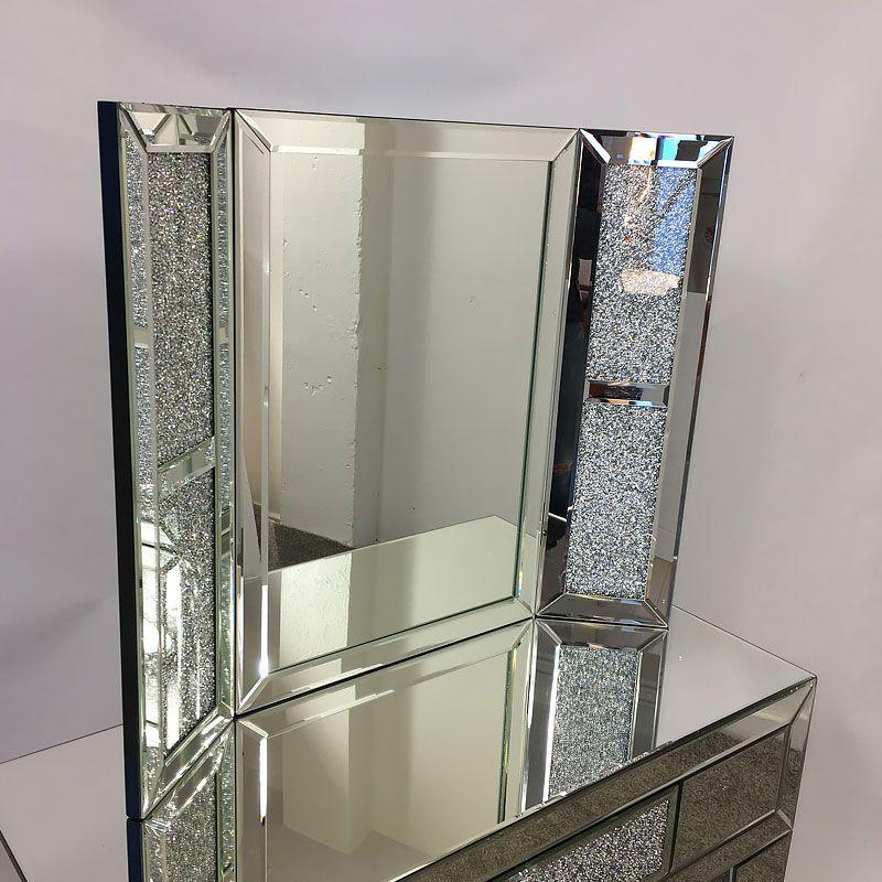 Glass Diamond White Dressing Table