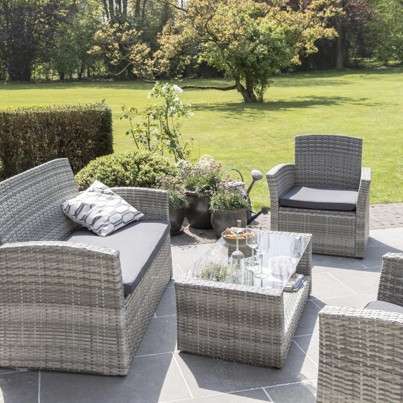 magnifique salon de jardin gris | Décoration française | Outdoor ...