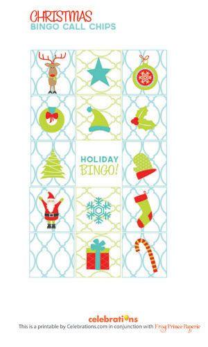 printable christmas bingo - Free Printable Christmas Bingo Cards