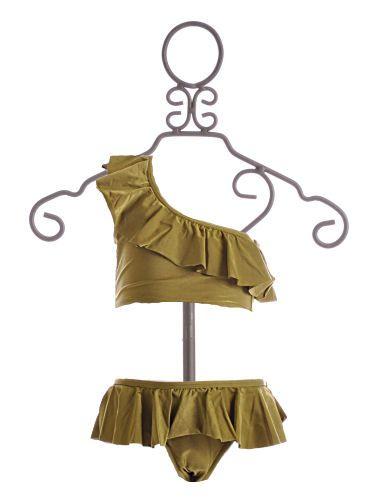 To The 9's Tween Bikini One Shoulder Green $35.25