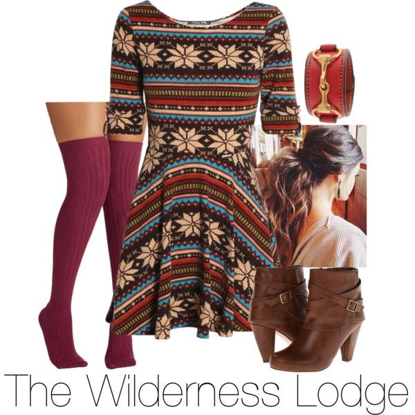 Disney's Wilderness Lodge by kirsten-darling71 on Polyvore featuring Club L, Madden Girl and Rebecca Ray Designs