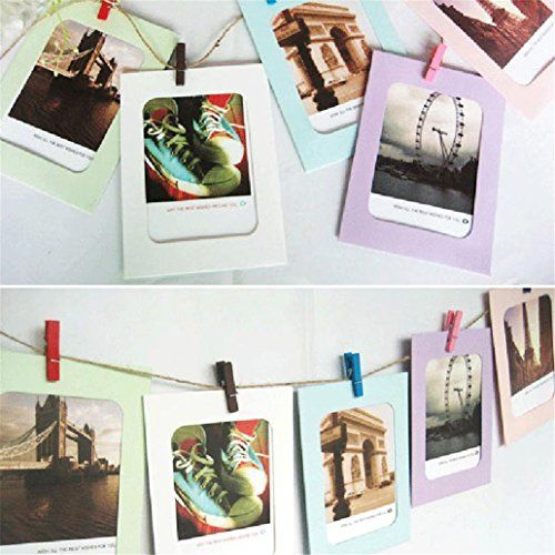 GOTD Wall Decor DIY Paper Photo Picture Frames 4x6 Hanging Film ...