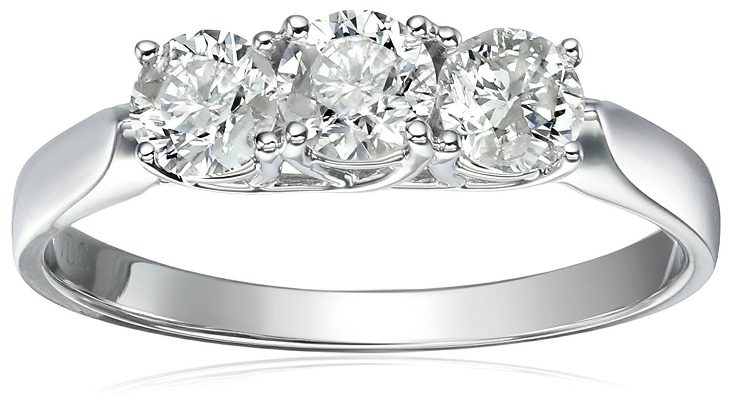 Amazon Collection 14k 3 Stone Diamond Engagement Ring Available At