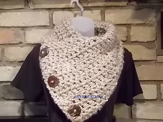 Silky Soft Neckwarmer with Coconut Buttons