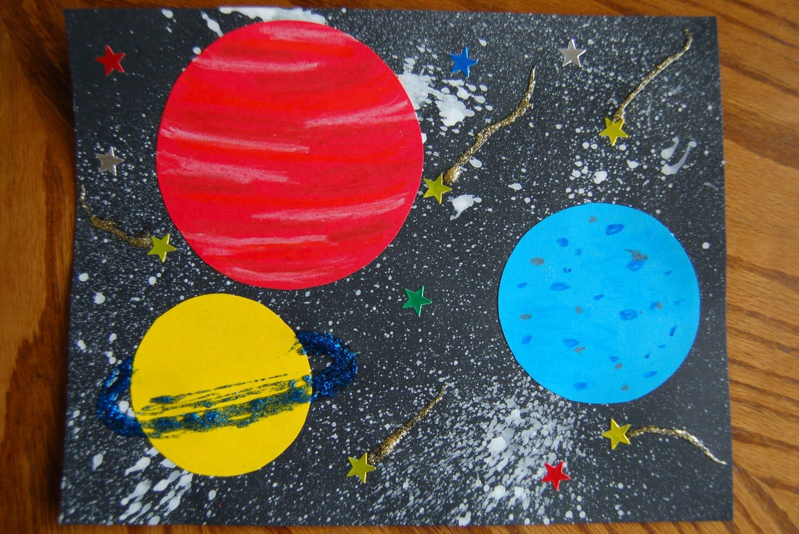 Art project for space theme | Preschool: SPRING ...