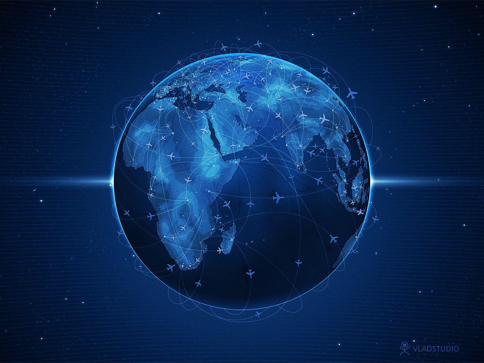 Dark Blue Globe Wallpaper 1600x1200 Fond Ecran S4 Wallpaper Ecran