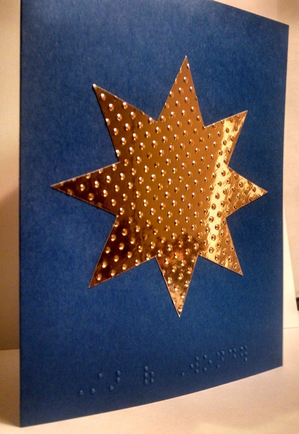 Star of Wonder braille Christmas greeting card | Braille greeting ...