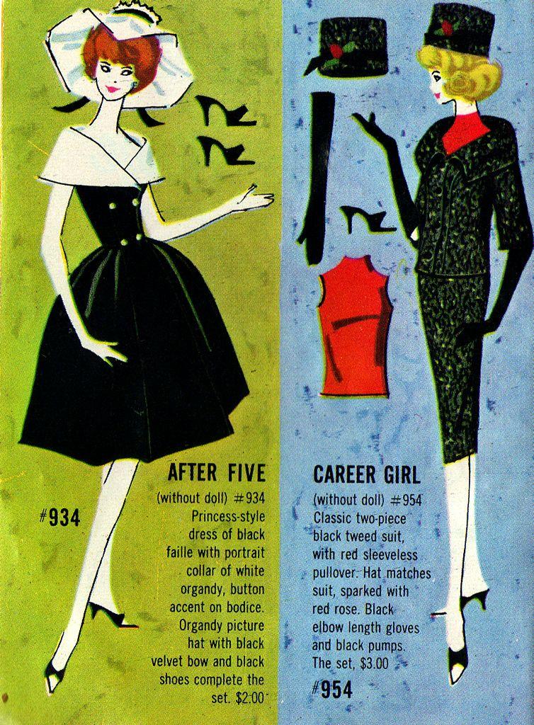 Vintage Random House Barbie Books Vintage Barbie Fashions Booklet 1962 Yellow Booklet