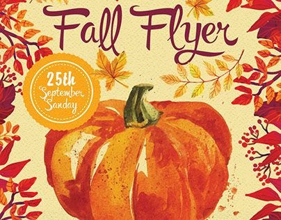Check Out New Work  Fall Flyer Psd Flyer Template Fall Autumn