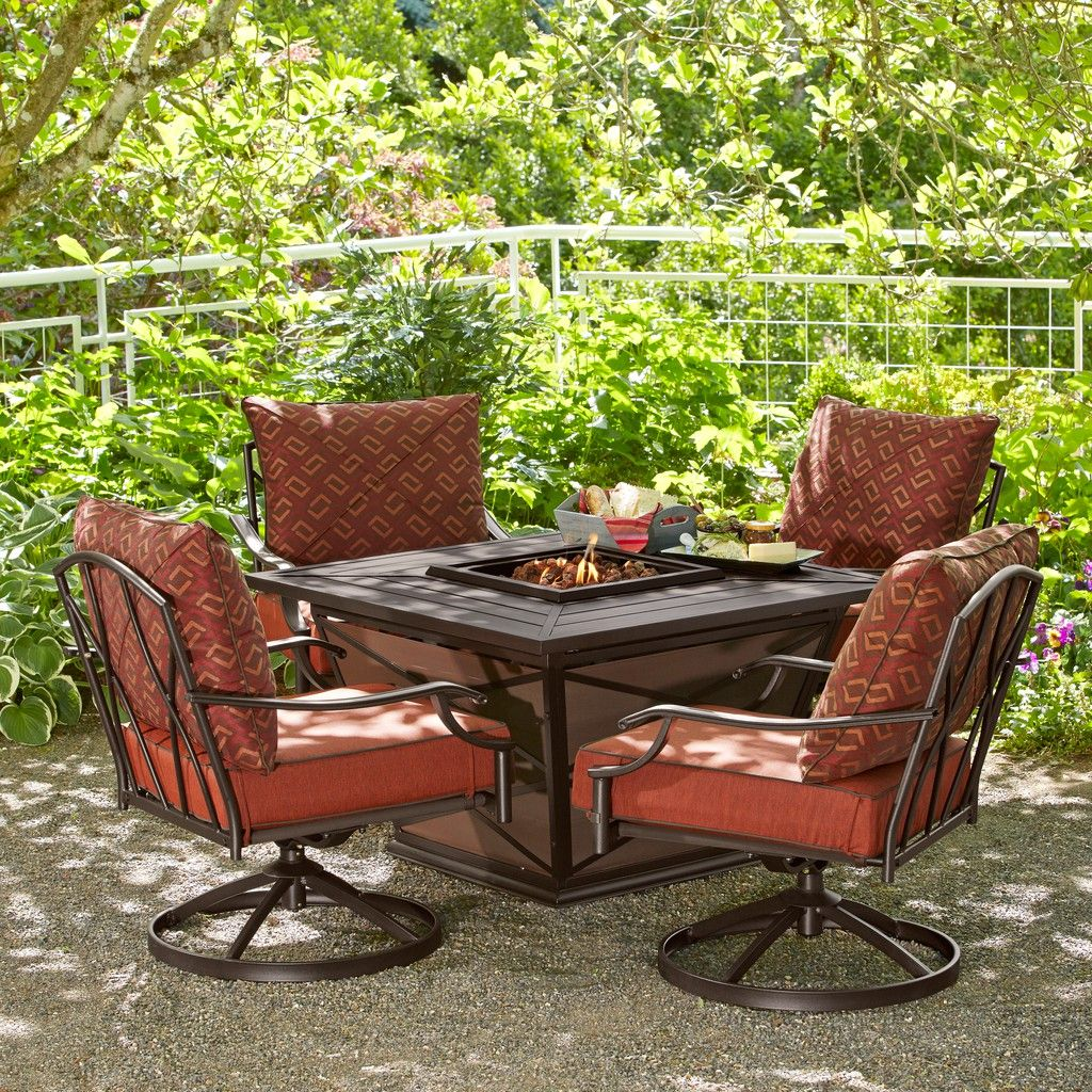 fred meyer patio furniture HD Designs Outdoors® Napa 5-Piece Gas Firepit Patio Set