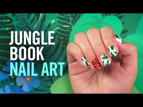 Show Off Your Wild Side With The Jungle Book Inspired Nail Art