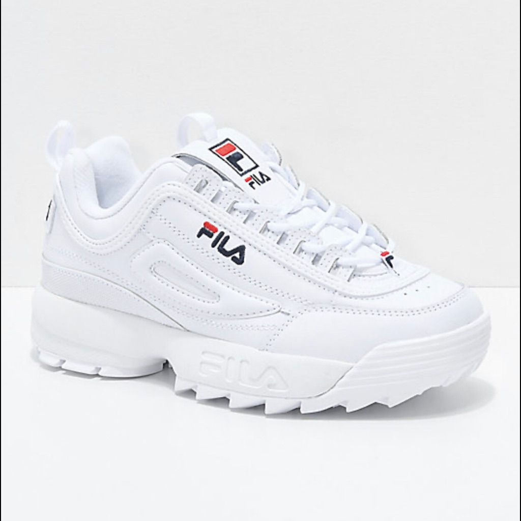 Filas White Shoes Women White Tennis Shoes Outfit Shoes