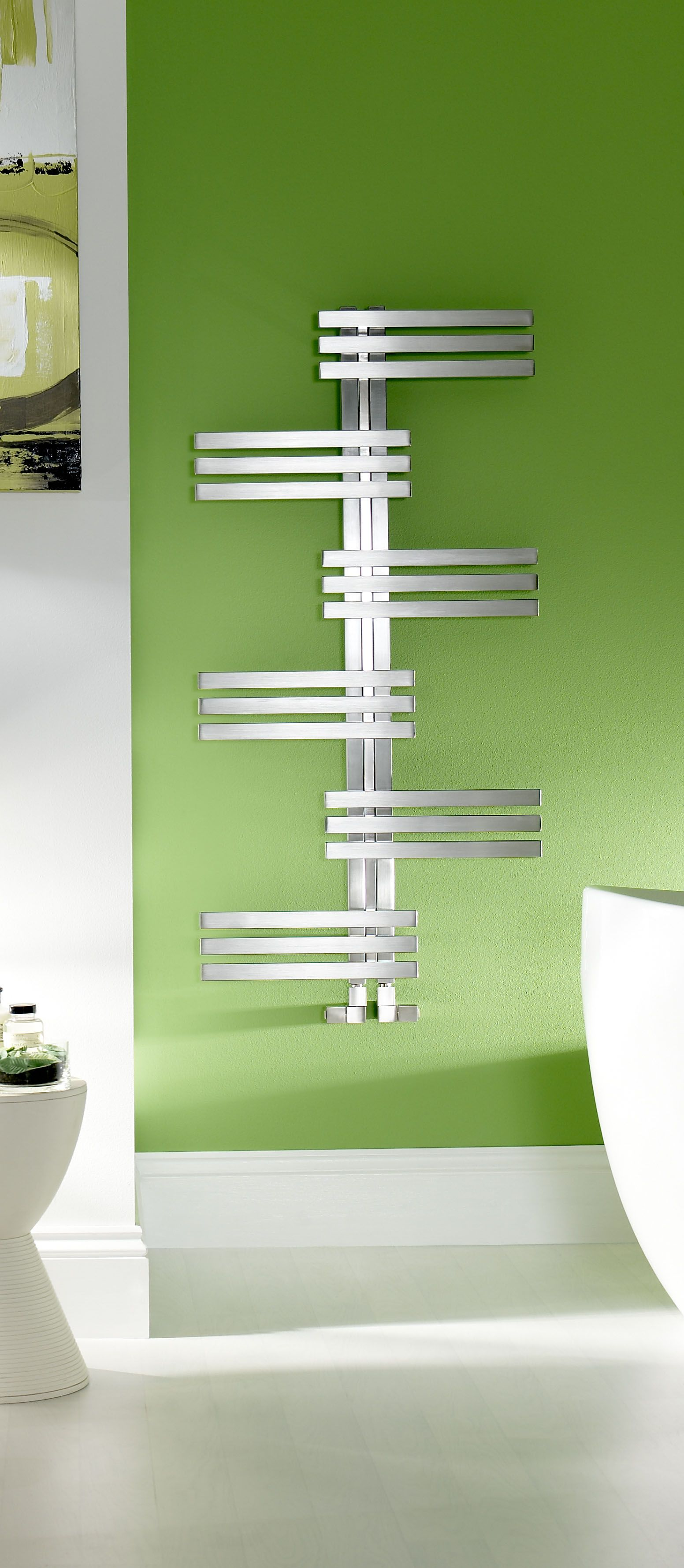 Beautiful Zehnder Keel Symmetrical Towel Radiator
