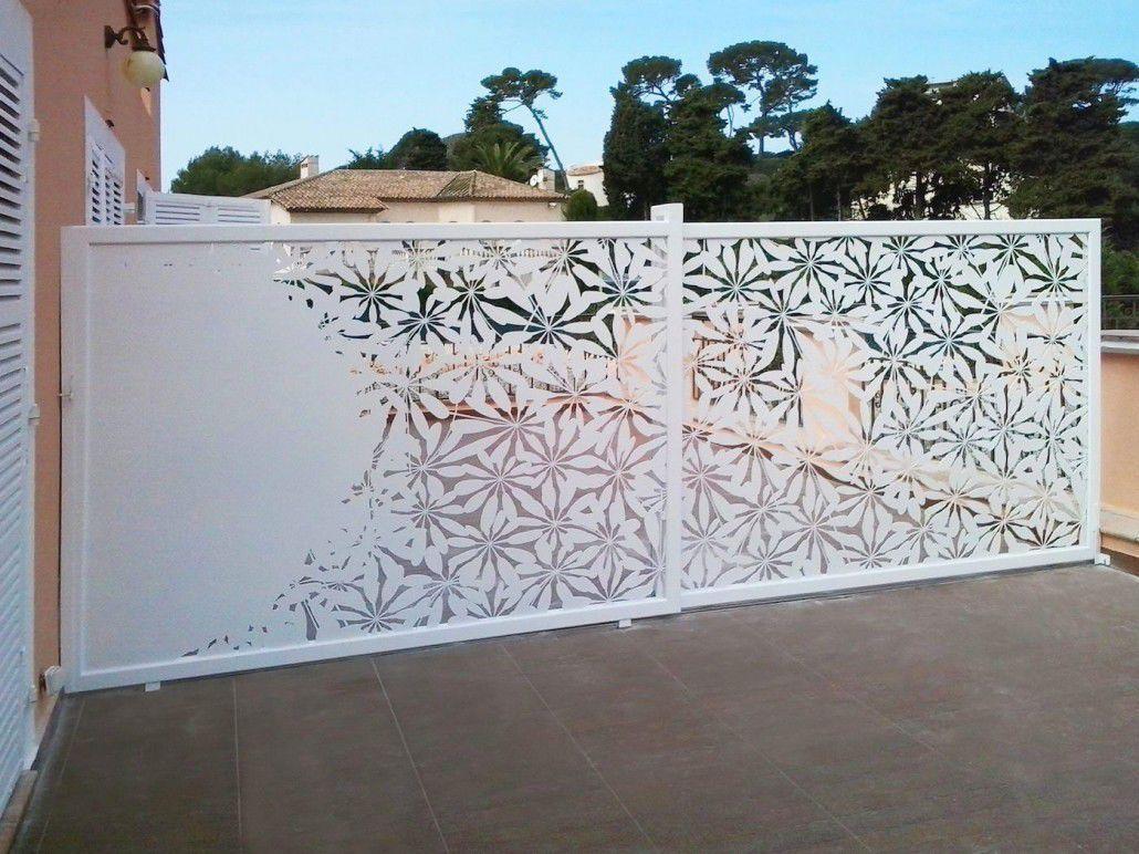 Garde corps d 39 ext rieur en aluminium panneaux pour for Paravent exterieur pour balcon