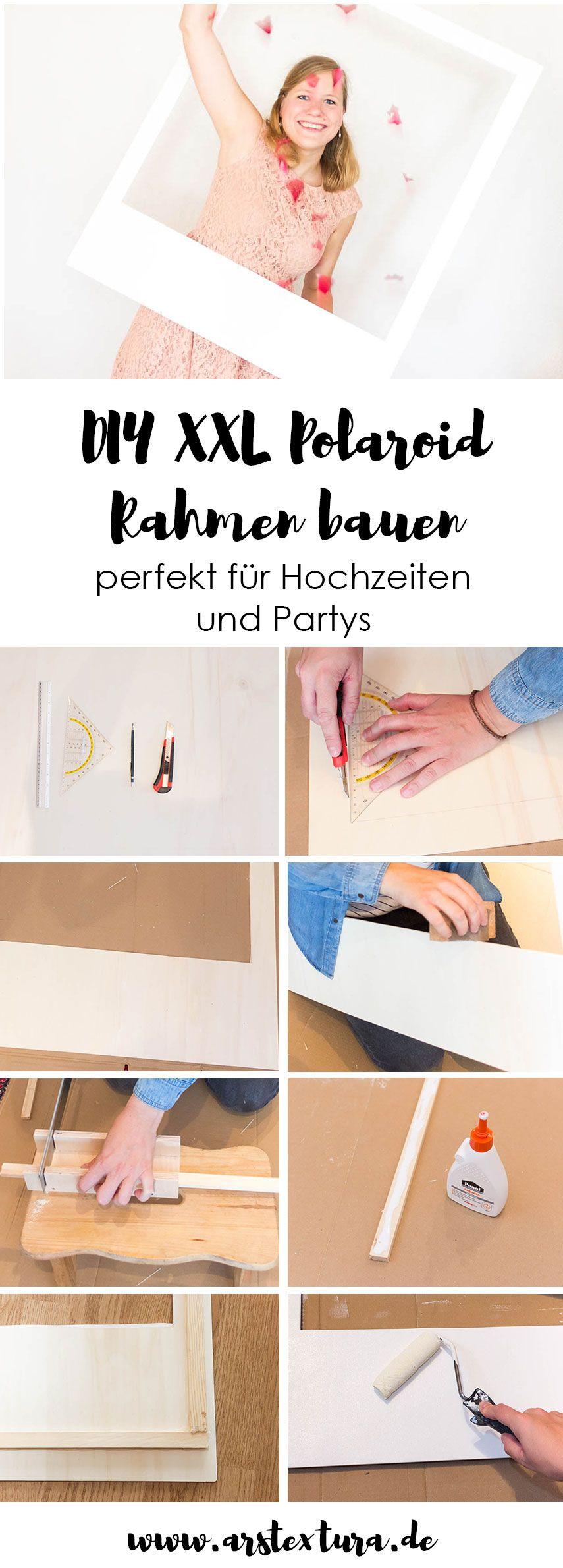 DIY Bilderrahmen für die Fotobox auf deiner Hochzeit | Pin Designs ...