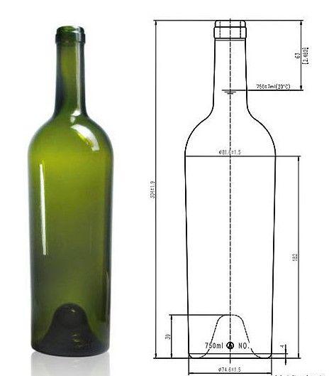 750ml Wine Bottles Wine Glass Drawing Wine Bottle Dimensions Wine Bottle