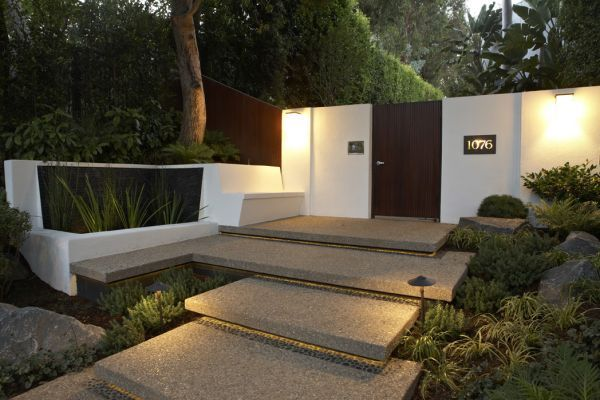 Floating Steps With Lighting Mid Century Landscaping Philippine
