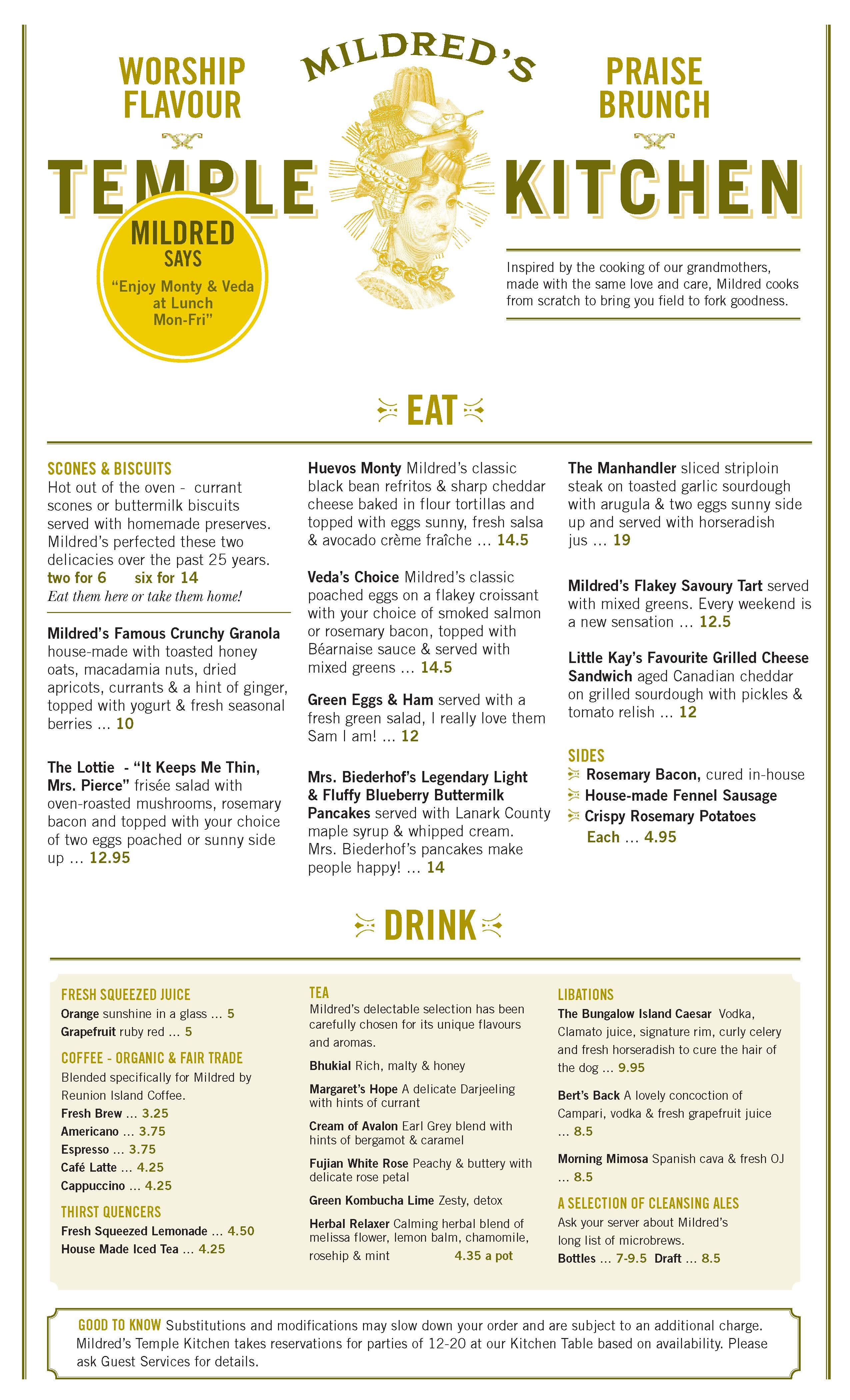 Mildred S Temple Kitchen Brunch Menu Chinese New Year Food Menu Inspiration Wedding Food Bars