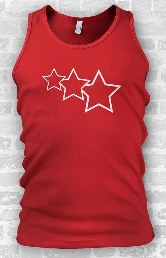 Stars Graphic Tee // Mens Tank Tops // by TeeTotalClothing on Etsy