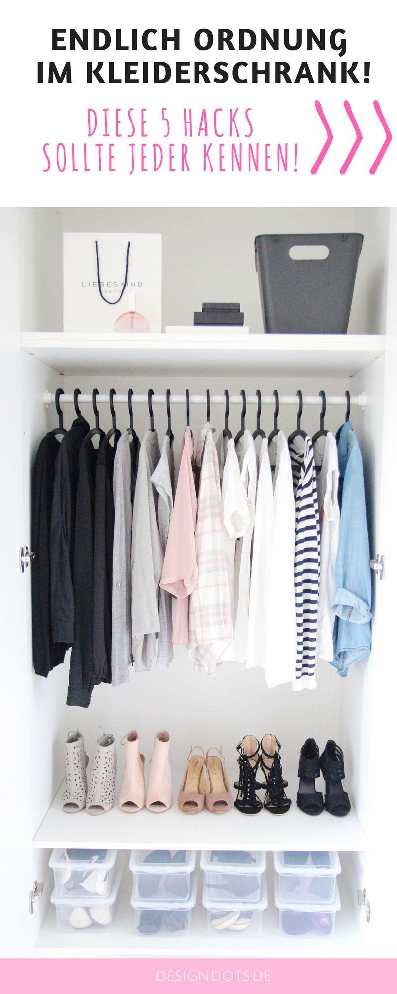 Ordnung im Kleiderschrank 5 Tipps für mehr Ordnung