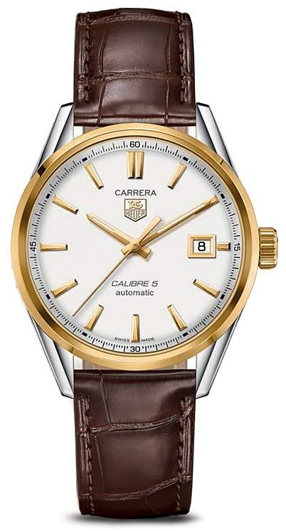 256e6eb82c92 Tag Heuer Carrera Calibre 5 Automatic Stainless Steel and 18K Yellow Gold  Watch