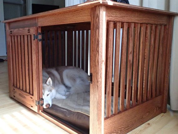 Items Similar To Extra Large Side Entry Wood Dog Crate Furniture Custom Made To Order On Etsy Dog Crate Furniture Diy Dog Crate Extra Large Dog Crate