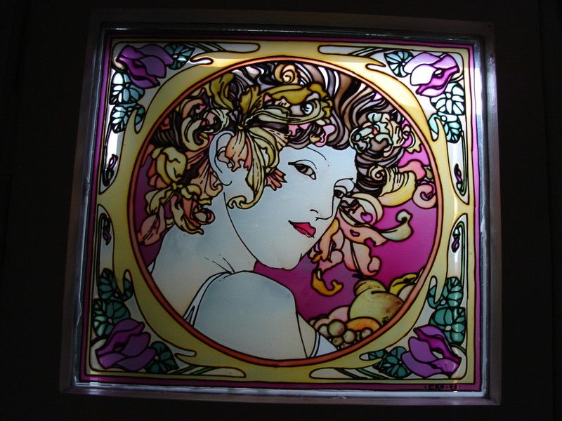 painted stained glass www.lapolveriera.jimdo.com