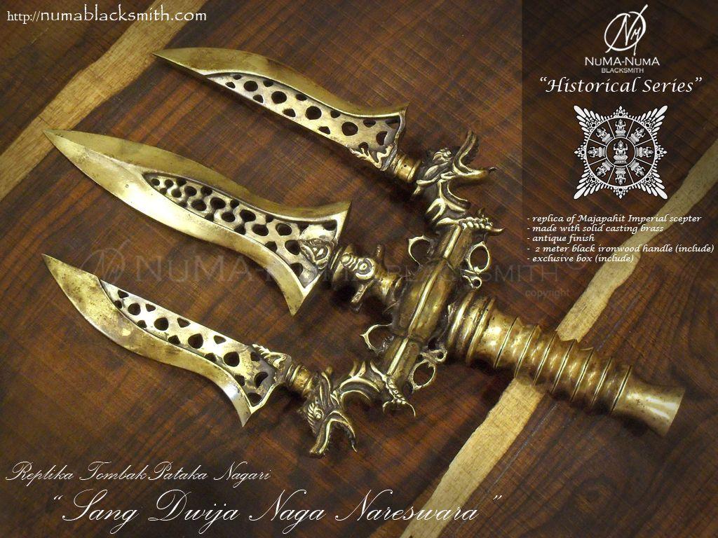Replika Tombak Pataka Majapahit Imperial Scepter Kaskus Kalung Perak Motif Ukiran Naga 07373