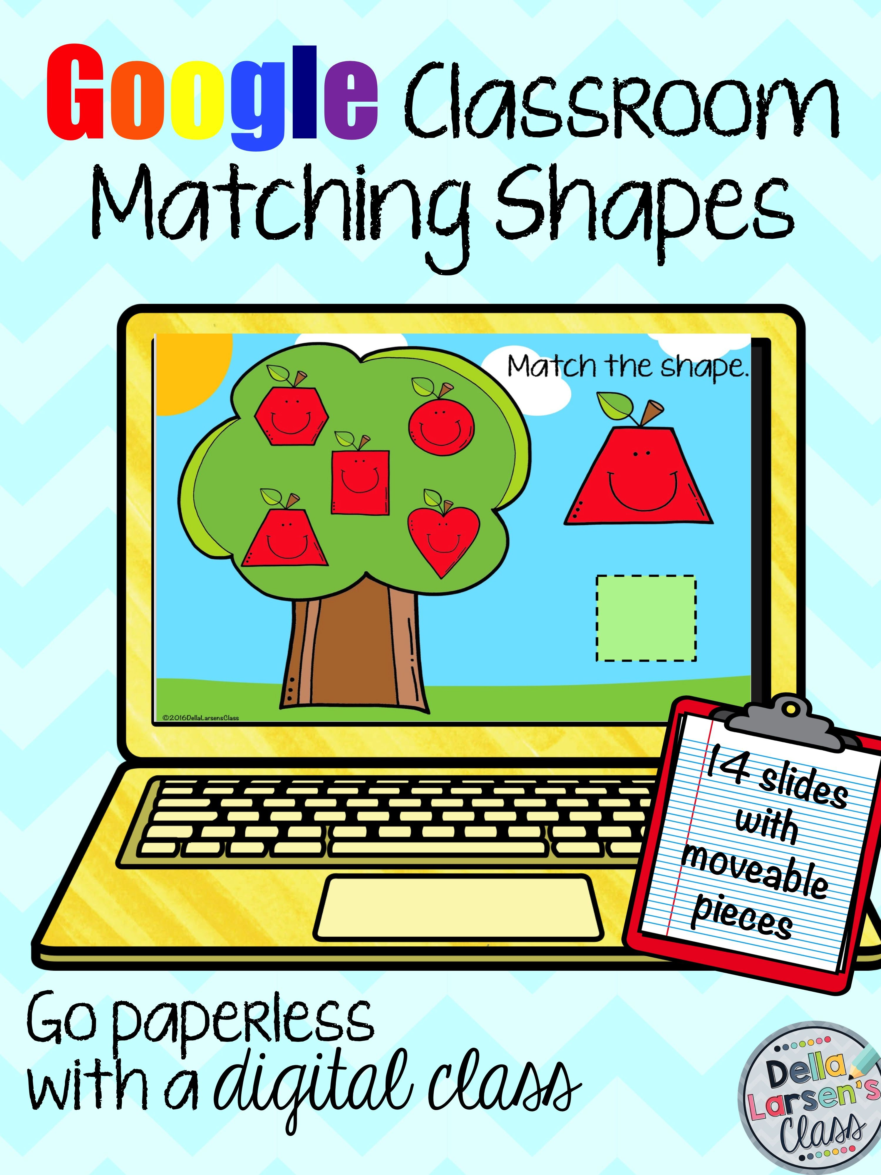 Let's go Google! A great addition to your digital math centers. Perfect for your apple unit. A fun way to teach shapes. Kids will love matching shapes with these interactive Google slides.