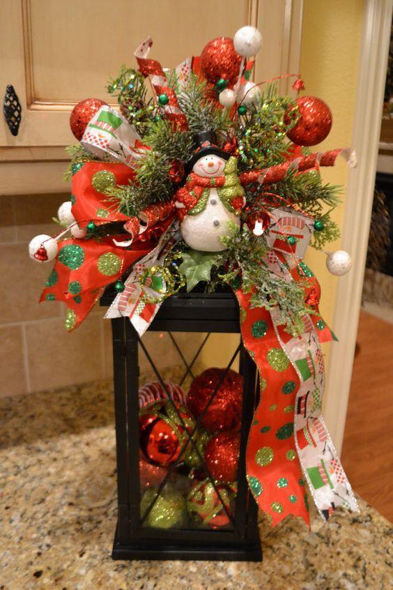 Faroles navideños Navidad, Ideas para and Craft - jardines navideos