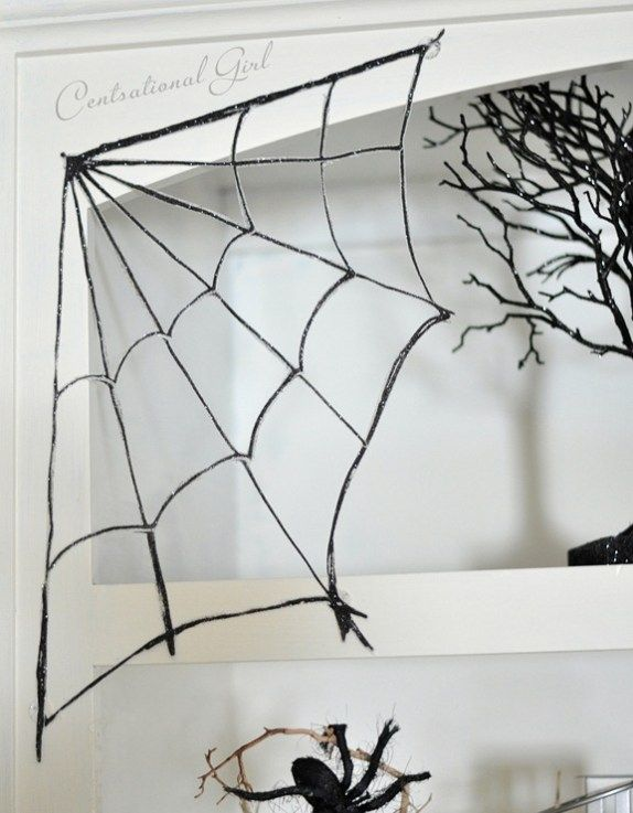 corner glittery spider web Printables Pinterest Spider webs - spider web halloween decoration