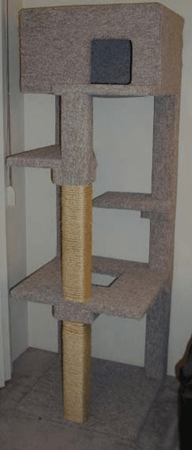 Build a cat tree with these free plans diy woodworking for Cat climber plans