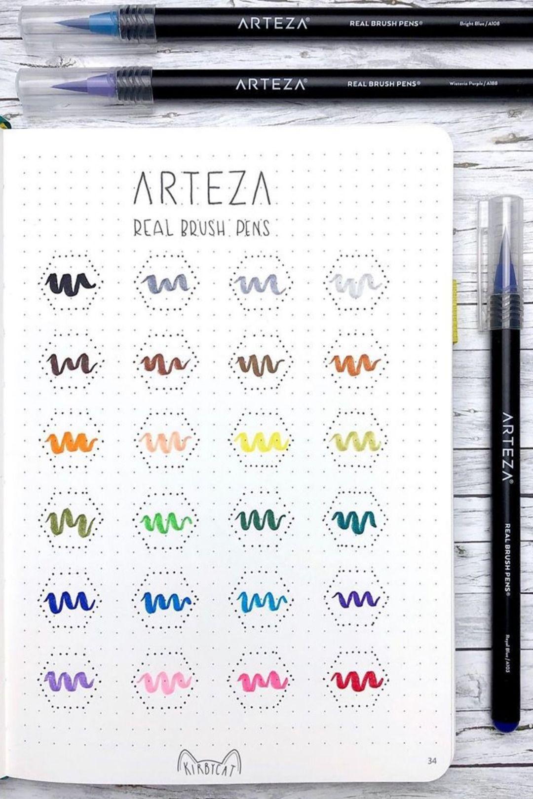 Real Brush Pens Set Of 48 Brush Pen Water Brush Pen Pen Sets