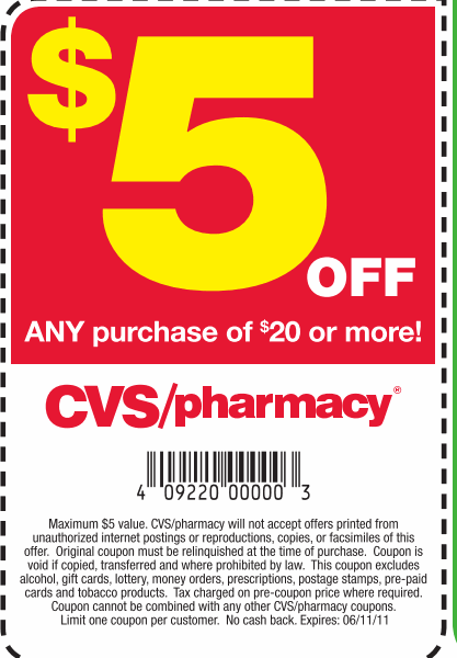 hot  5 off  20 cvs coupon