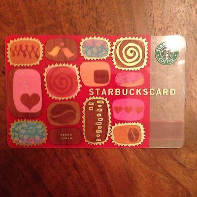 Starbucks Collectible Gift Card Box Of Chocolates 2003