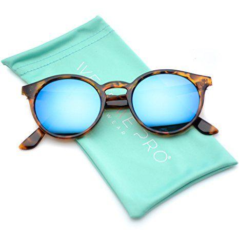 80bea6d36e WearMe Pro - Classic Small Round Retro Sunglasses Stylish Sunglasses