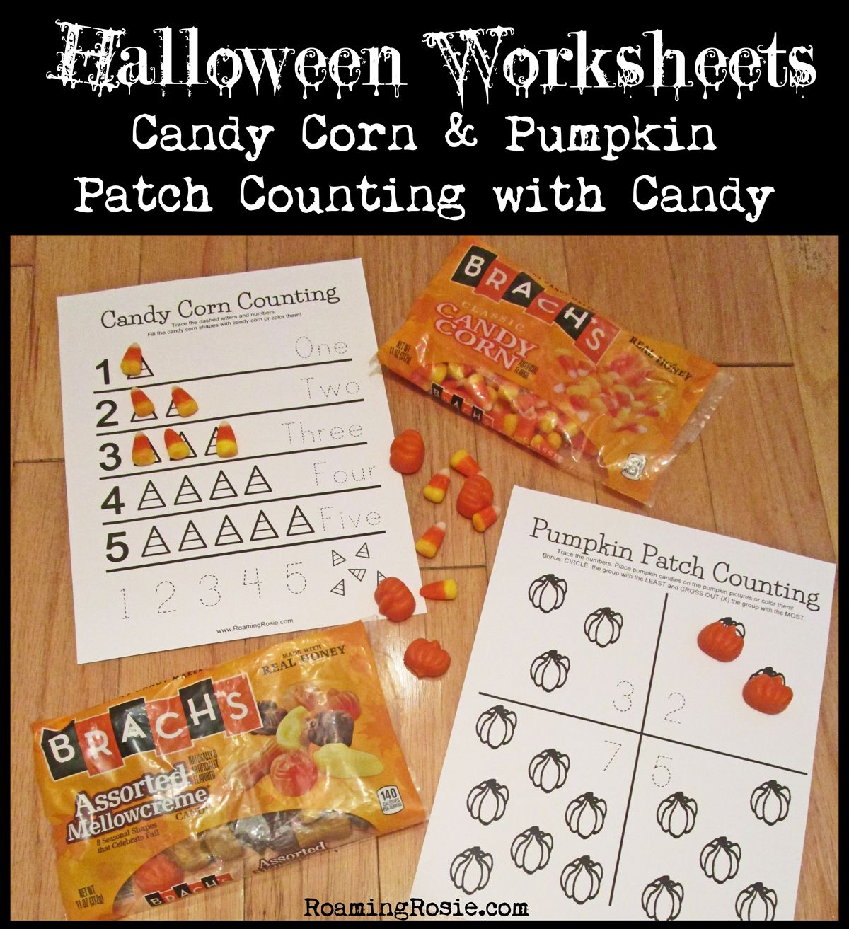 Halloween Candy Corn Worksheet