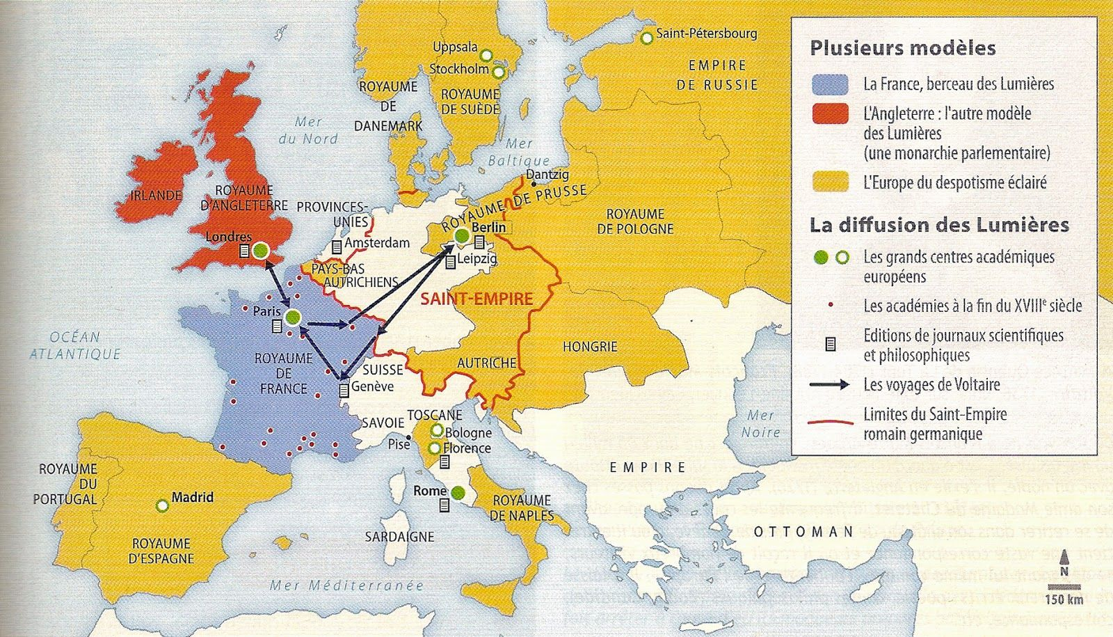 Voici La Carte De L Europe Du Siecle Des Lumieres Carte Europe