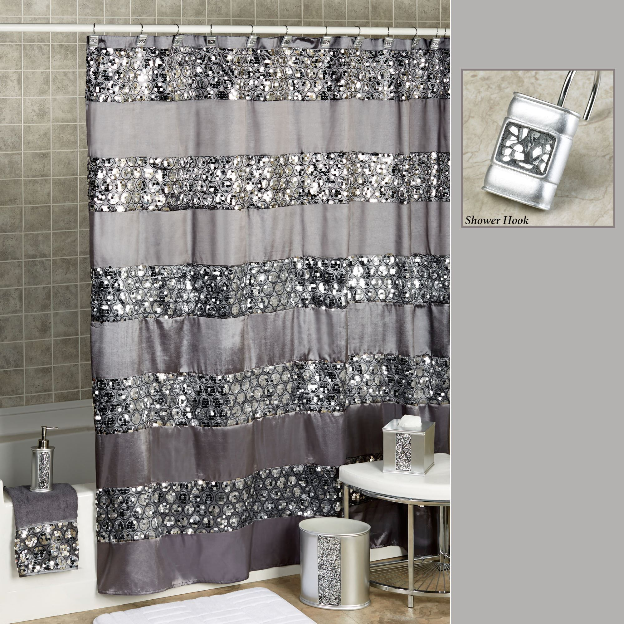 interior black and curtain shower gray red awesome of