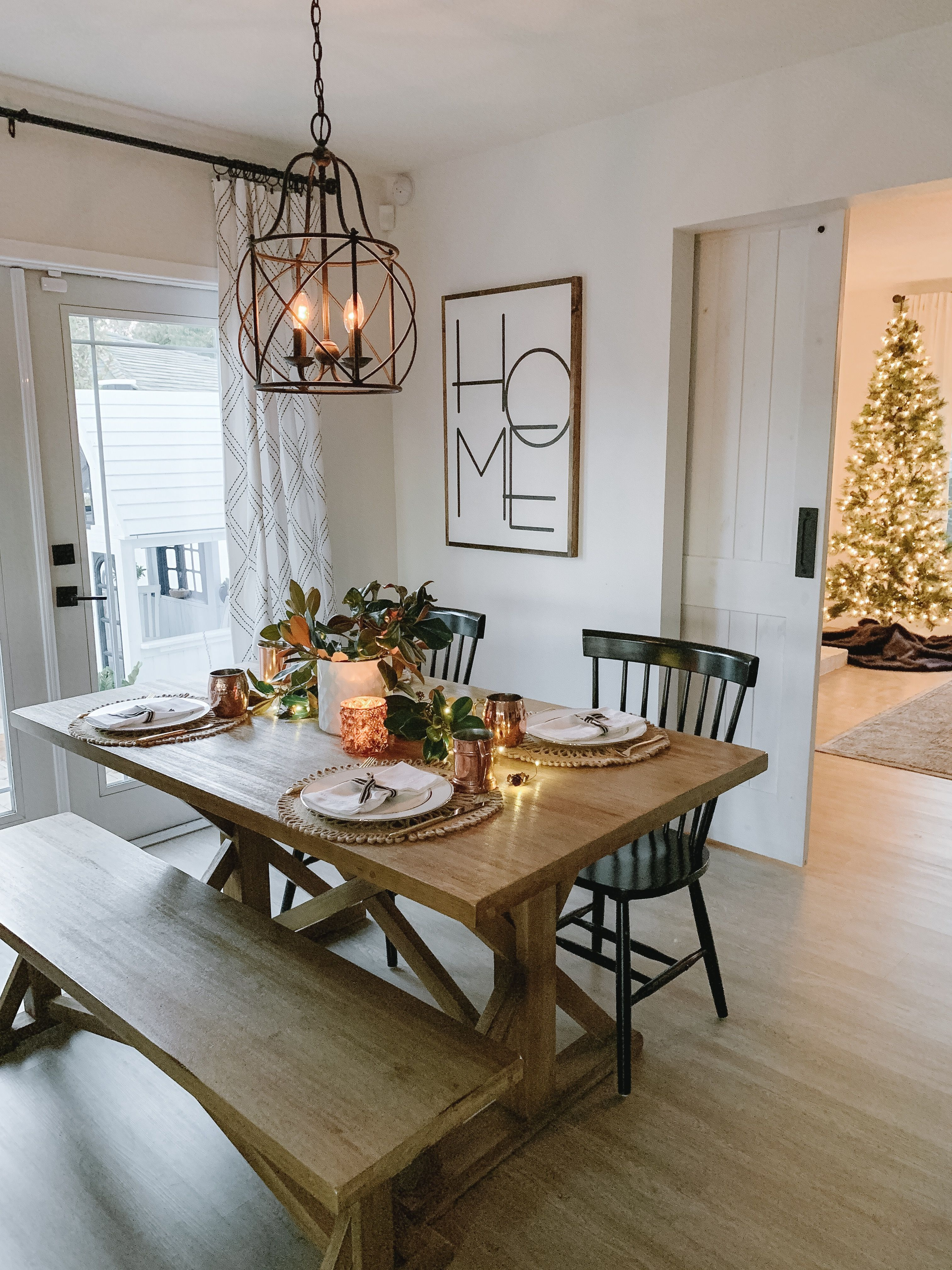 Sensational Holiday Tablescape At Twilight Magnolia Branches Copper Short Links Chair Design For Home Short Linksinfo
