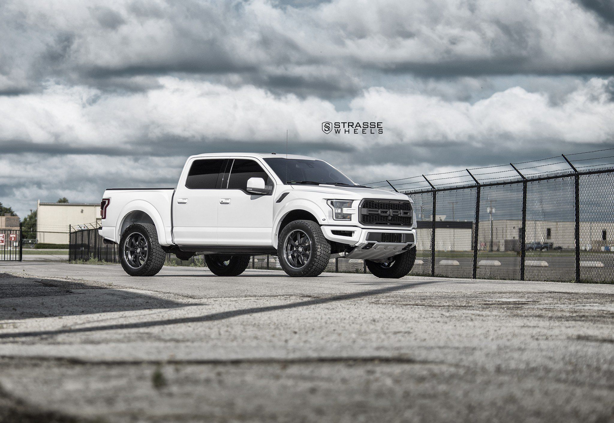 clean looking white ford f 150 with custom strasse rims ford f150 pinterest