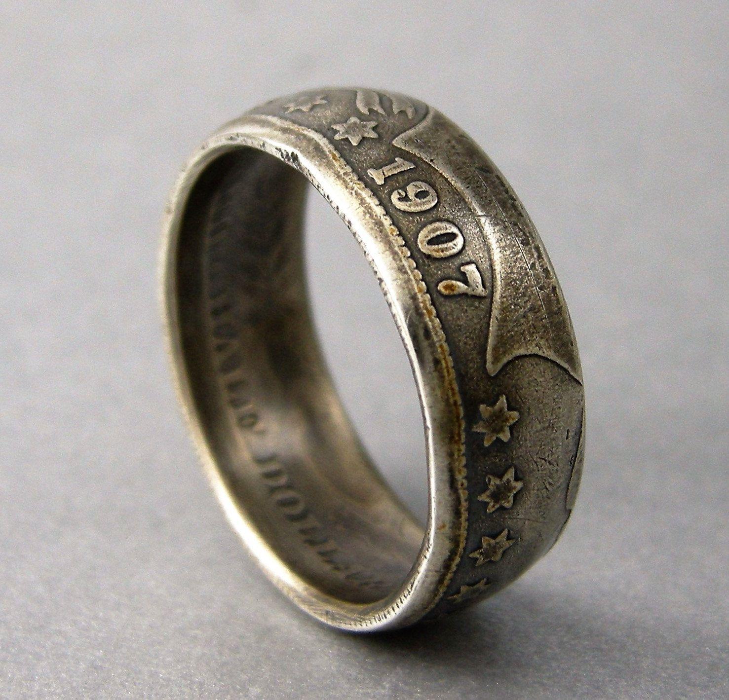 various sizes USA Half Dollar handmade coin ring