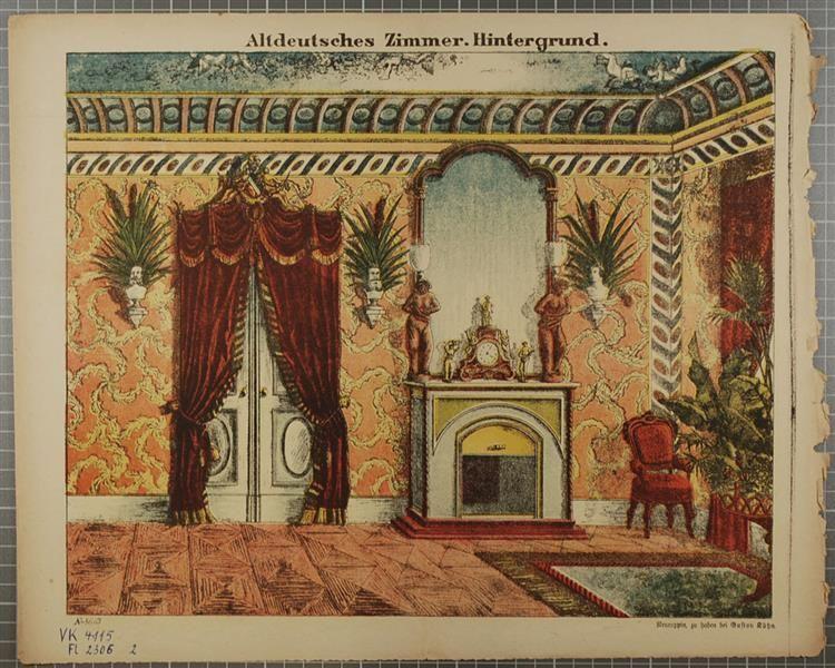 Altdeutsches Zimmer. Hintergrund. No. 8619. Kunst