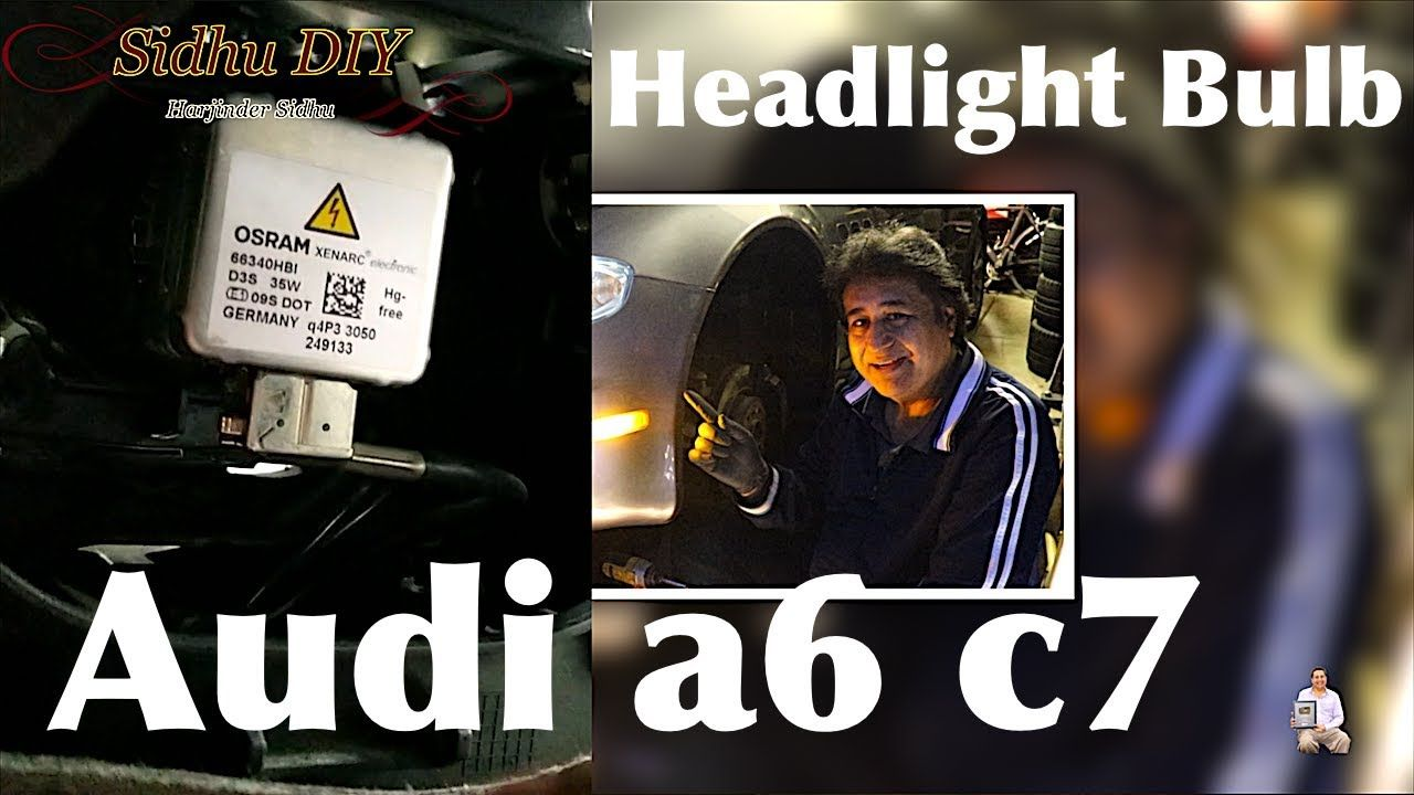 How To Change Audi a6 c7 Headlight Bulb | DIY - Auto
