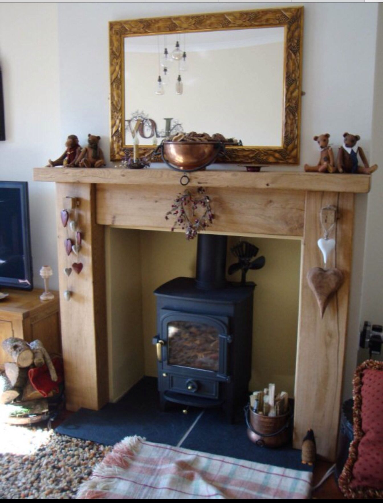 fire surround rustic style for the home pinterest fire
