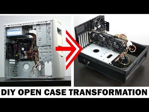 Diy Open Air Pc Case Transformation Youtube Diy Pc Case Pc Cases Diy Computer Case